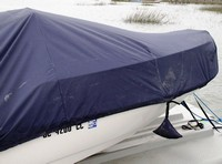 Photo of Boston Whaler Montauk 170 20xx Boat-Cover LCC Bow, viewed from Starboard, Side close up