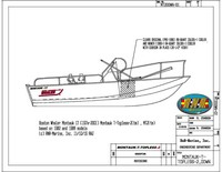 Photo of Boston Whaler Montauk 170 20xx Montauk T-Topless™ Folding T-Top (MT2) Lowered Drawing