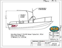 Photo of Boston Whaler Montauk 170 20xx Montauk T-Topless™ Folding T-Top (MT2) Raised Drawing