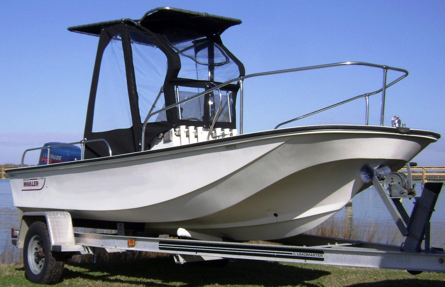 Boston Whaler Montauk 17, 1982, Montauk-T-Topless™ Spray Shield Gull Wings
