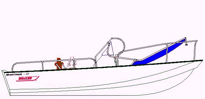 Boston Whaler Montauk 17, 19xx, T-Topless™ Drawing Down