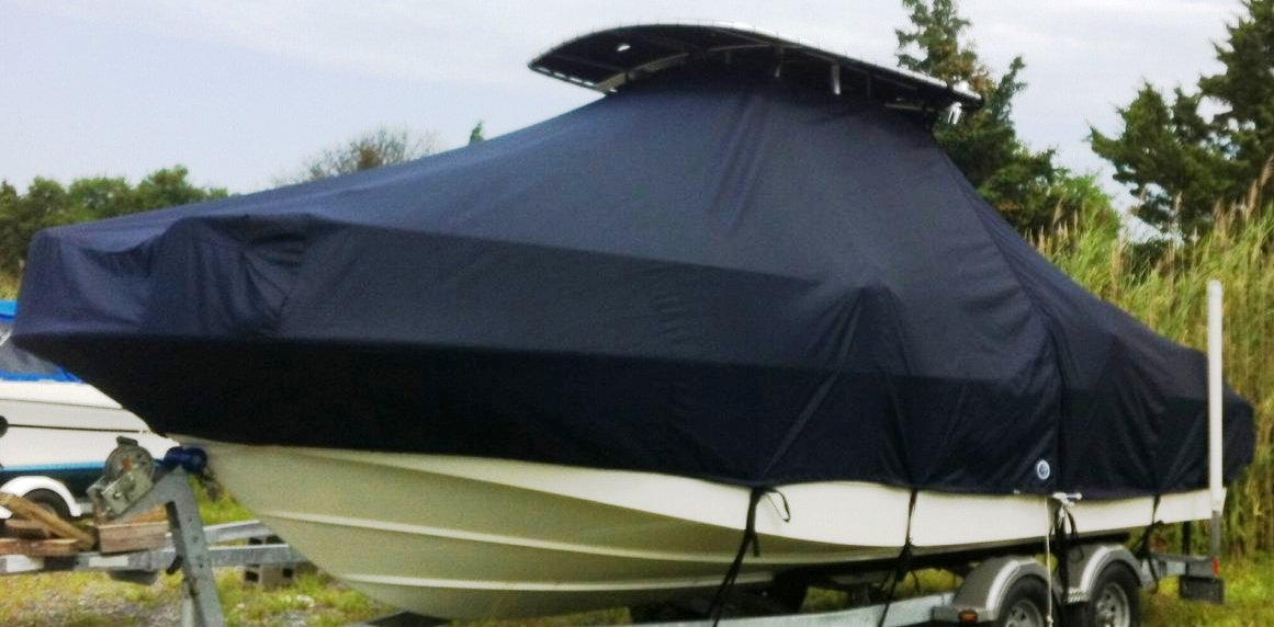 Boston Whaler Montauk 210, 20xx, TTopCovers™ T-Top boat cover, port front