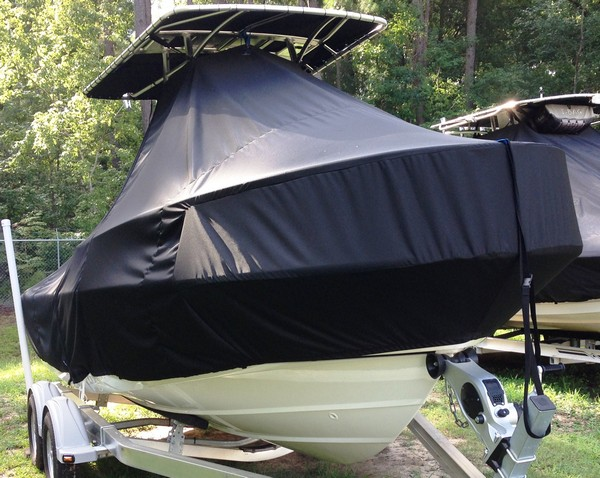 Boston Whaler Outrage 190, 20xx, TTopCovers™ T-Top boat cover, starboard front