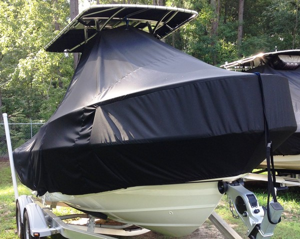 Boston Whaler Outrage 19, 19xx, TTopCovers™ T-Top boat cover, starboard front