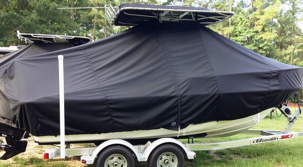 Boston Whaler Outrage 19, 19xx, TTopCovers™ T-Top boat cover, starboard side
