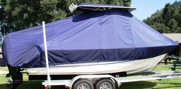 Boston Whaler Outrage 210, 19xx, TTopCovers™ T-Top boat cover, starboard side