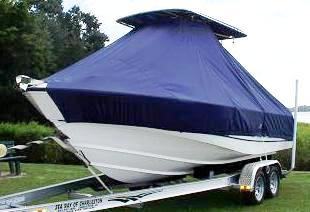 Boston Whaler Outrage 210, 20xx, TTopCovers™ T-Top boat cover, port front