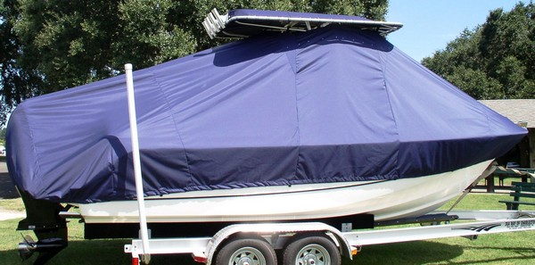 Boston Whaler Outrage 210, 20xx, TTopCovers™ T-Top boat cover, starboard side