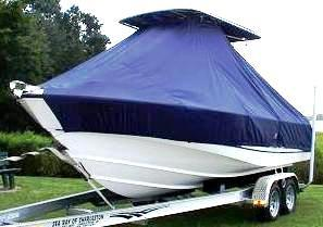 Boston Whaler Outrage 21, 19xx, TTopCovers™ T-Top boat cover, port front