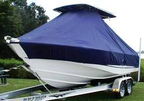 Boston Whaler Outrage 21, 20xx, TTopCovers™ T-Top boat cover, port front