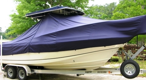 Boston Whaler Outrage 23, 19xx, TTopCovers™ T-Top boat cover, starboard side