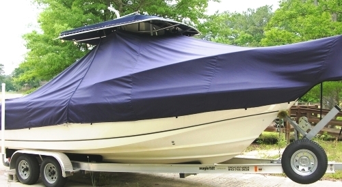 Boston Whaler Outrage 23, 20xx, TTopCovers™ T-Top boat cover, starboard side