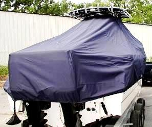 Boston Whaler Outrage 250, 20xx, TTopCovers™ T-Top boat cover rear