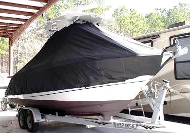 Boston Whaler Outrage 250, 20xx, TTopCovers™ T-Top boat cover, starboard front