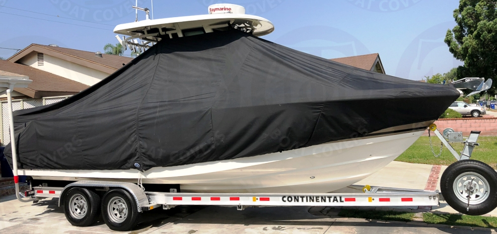 Boston Whaler Outrage 250, 20xx, TTopCovers™ T-Top boat cover, starboard side