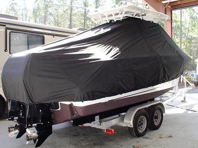 Boston Whaler Outrage 25, 20xx, TTopCovers™ T-Top boat cover 524 rear