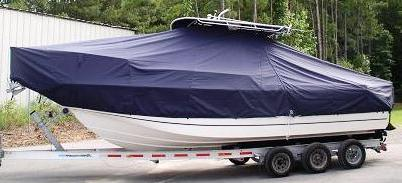 Boston Whaler Outrage 260, 2006, TTopCovers™ T-Top boat cover side