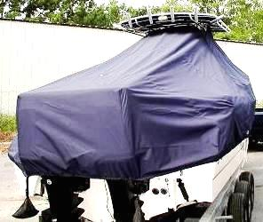 Boston Whaler Outrage 260, 20xx, TTopCovers™ T-Top boat cover rear