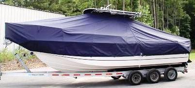 Boston Whaler Outrage 260, 20xx, TTopCovers™ T-Top boat cover side