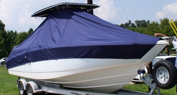 Boston Whaler Outrage 270, 20xx, TTopCovers™ T-Top boat cover, starboard front