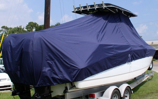 Boston Whaler Outrage 270, 20xx, TTopCovers™ T-Top boat cover, starboard rear