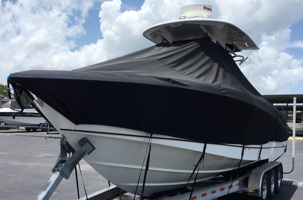 Boston Whaler Outrage 280, 20xx, TTopCovers™ T-Top boat cover, port front