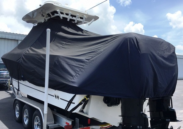 Boston Whaler Outrage 280, 20xx, TTopCovers™ T-Top boat cover, port rear