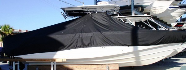 Boston Whaler Outrage 320 Center Console, 20xx, TTopCovers™ T-Top boat cover side
