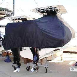Boston Whaler Outrage 320, 200x, TTopCovers™ T-Top boat cover rear