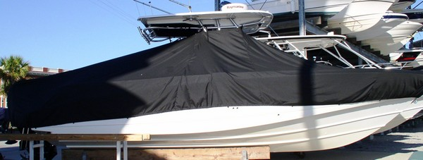 Boston Whaler Outrage 320, 20xx, TTopCovers™ T-Top boat cover side