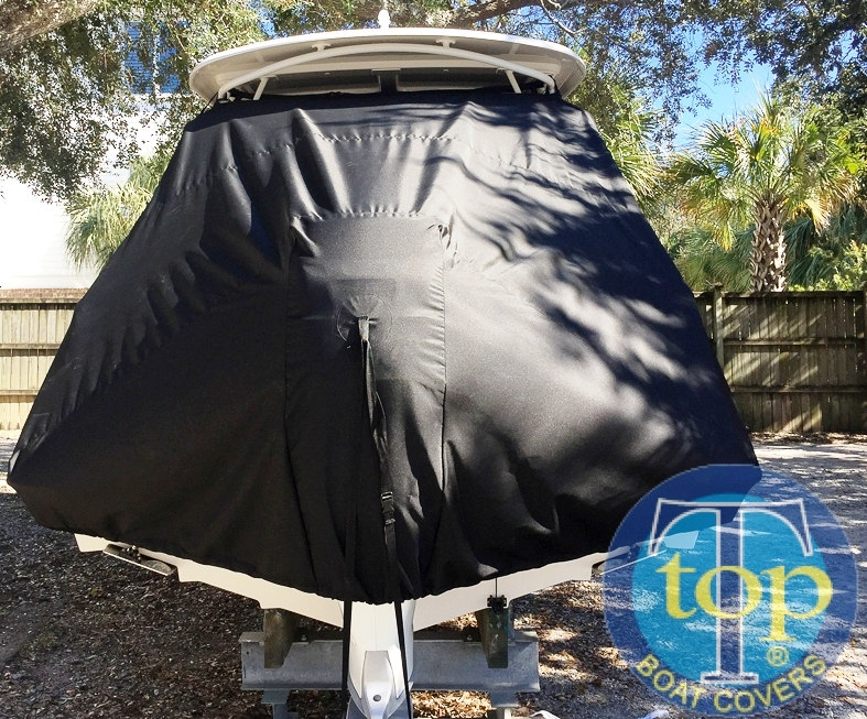 Boston Whaler Vantage 230 Hard Top, 20xx, TTopCovers™ T-Top boat cover rear