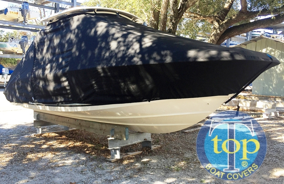 Boston Whaler Vantage 230 Hard Top, 20xx, TTopCovers™ T-Top boat cover, starboard front