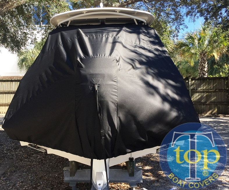 Boston Whaler Vantage 230, 20xx, TTopCovers™ T-Top boat cover rear