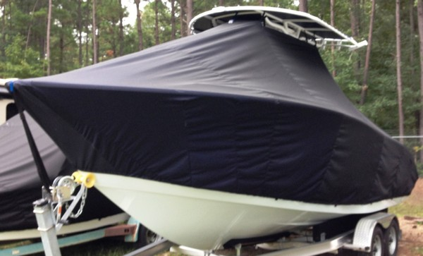 Cape Horn 22CC, 20xx, TTopCovers™ T-Top boat cover, port front