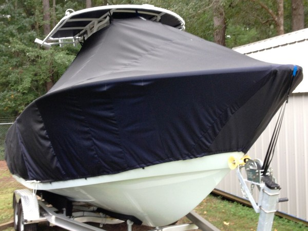 Cape Horn 22CC, 20xx, TTopCovers™ T-Top boat cover, starboard front