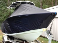 Photo of Cape Horn 22CC 20xx T-Top Boat-Cover, viewed from Starboard Front