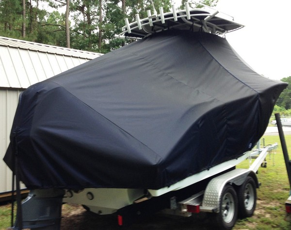 Cape Horn 22CC, 20xx, TTopCovers™ T-Top boat cover, starboard rear