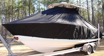 Cape Horn 24CC Offshore, 20xx, TTopCovers™ T-Top boat cover, port front