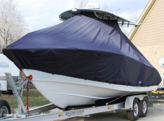 Cape Horn 24XS, 2013, TTopCovers™ T-Top boat cover, port front