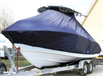 Cape Horn 24XS, 20xx, TTopCovers™ T-Top boat cover, port front
