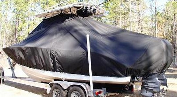 Cape Horn 24XS, 20xx, TTopCovers™ T-Top boat cover, port rear