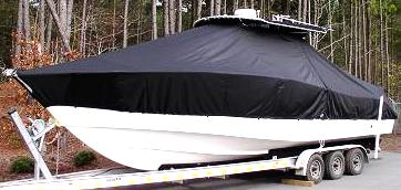 Cape Horn 31CC Offshore, 20xx, TTopCovers™ T-Top boat cover, port front