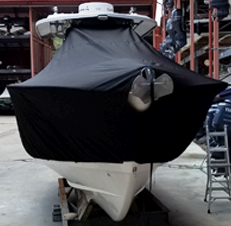 Cape Horn 32, 20xx, TTopCovers™ T-Top boat cover front