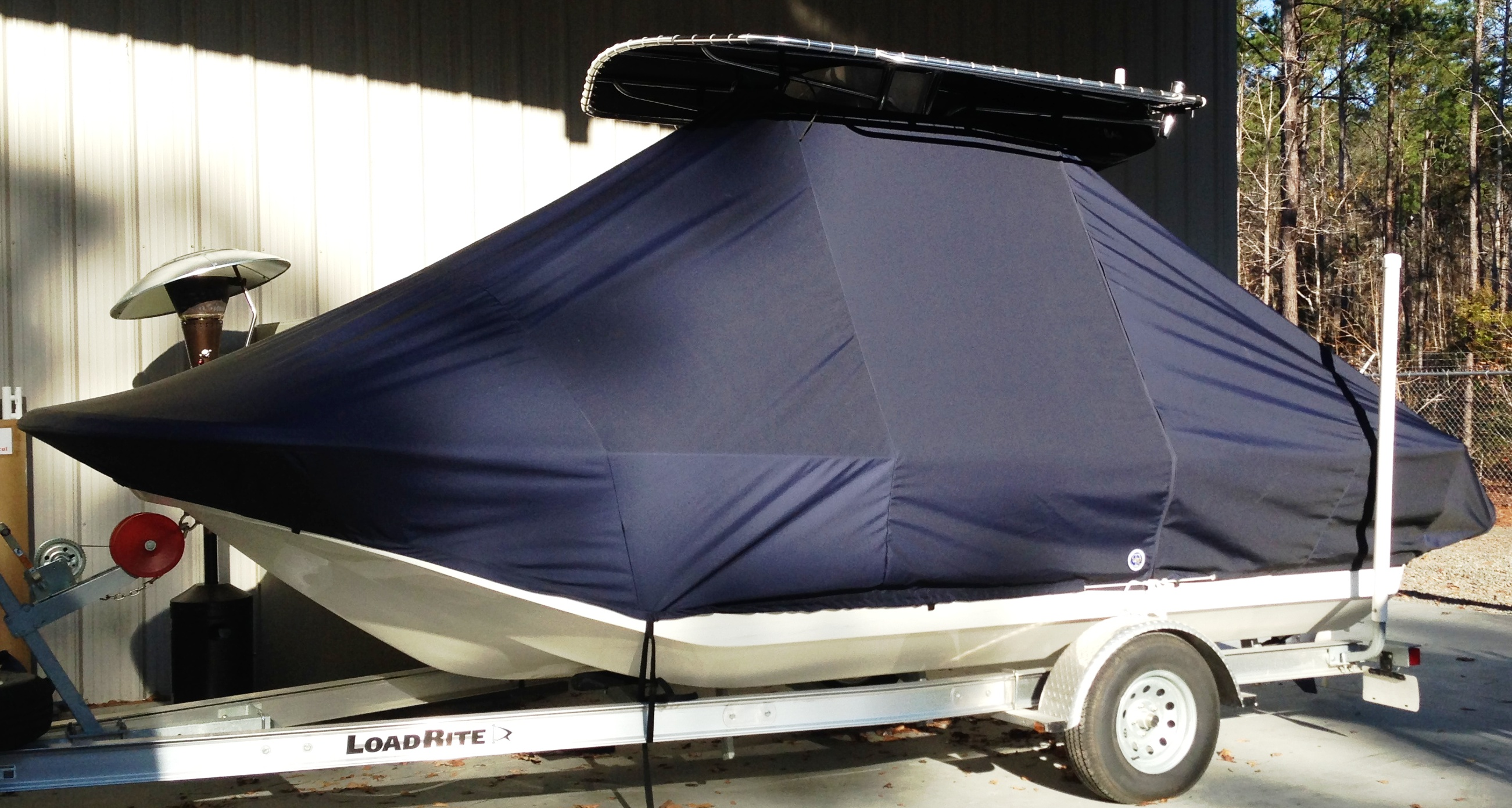 Carolina Skiff, 198 DLV, 20xx, TTopCovers™ T-Top boat cover, port side