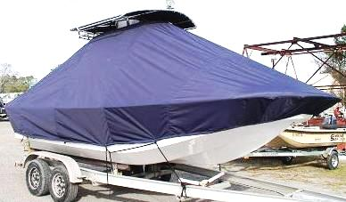 Carolina Skiff 218 DLV, 20xx, TTopCovers™ T-Top boat cover, starboard front