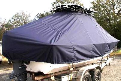 Carolina Skiff 218 DLV, 20xx, TTopCovers™ T-Top boat cover, starboard rear