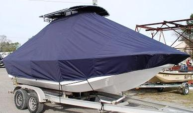 Carolina Skiff 218DLV, 20xx, TTopCovers™ T-Top boat cover, starboard front
