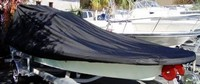 Flats-Boat-and-Poling-Platform-Cover-V-Bow-71318A™Carver p/n 71318A Cover for V-Bow Flats-Boat with Poling Platform with CENTERLINE LENGTH = 18-ft,6-in , BEAM = 96 inches wide, Max. Console-Height of 37 inches above Floor and Poling-Platform up to 45-in High x 41-in Wide x 39-in Deep