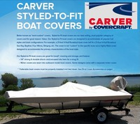 Carver Styled-To-Fit Boat Covers for Sanger boats