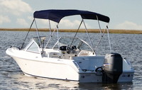 Bimini-Top-Alum-Unassembled-Carver™Carver® UNassembled, folding Bimini Top with 2, 3 or 4 bow round aluminum tube frame, nylon fittings/hardware, straps and matching storage boot. Carver(r) has over 30 years of experience building Bimini-Tops and Boat-Covers.